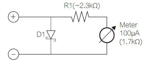 将二极管与电源的负端进行串联达到简化电流监控目的