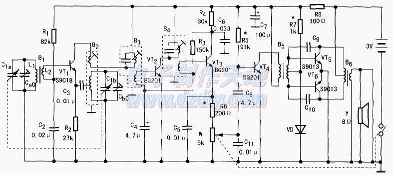 六管收音机电路原理及制作