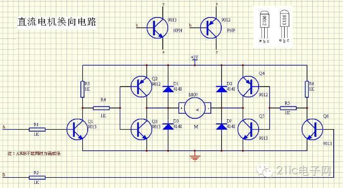浅谈基于H桥电路的控制电机的正反转和PWM调速