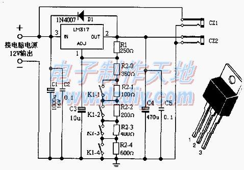 用LM317制作电脑外供直流可调稳压电源