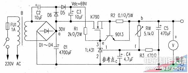 由TL431组成的可调稳压电源的制作