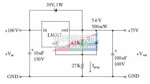 LM317高压稳压电源电路
