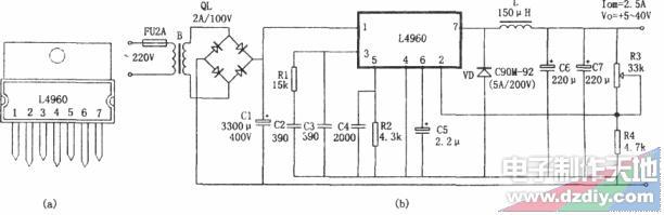 由L4960构成的单片式开关电源