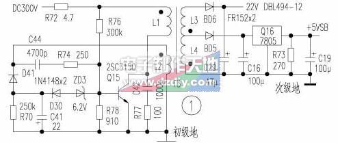 電腦ATX輔助電源電路原理與檢修,RCC POWER SUPPLY