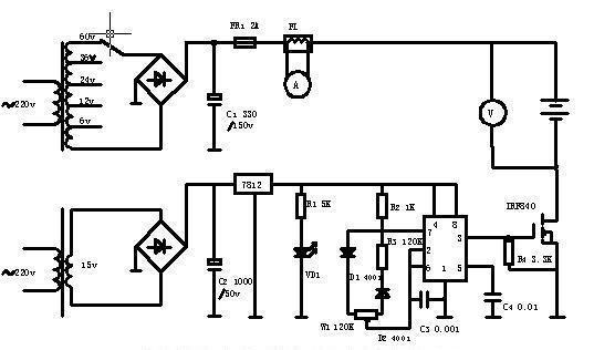 电动车蓄电池修复器电路原理分析