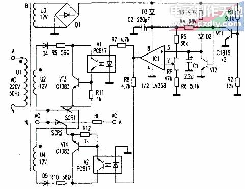 可控硅交流调压电路