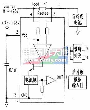 MAX4376电流检测传感器的工作原理