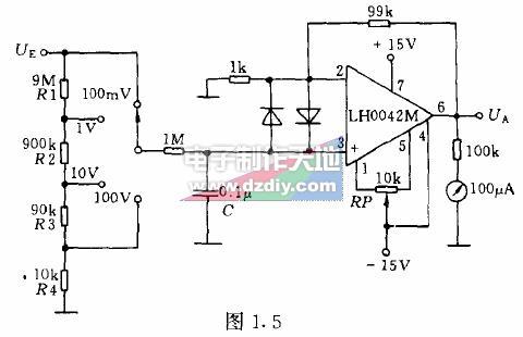 怎样用运放制作灵敏电压表