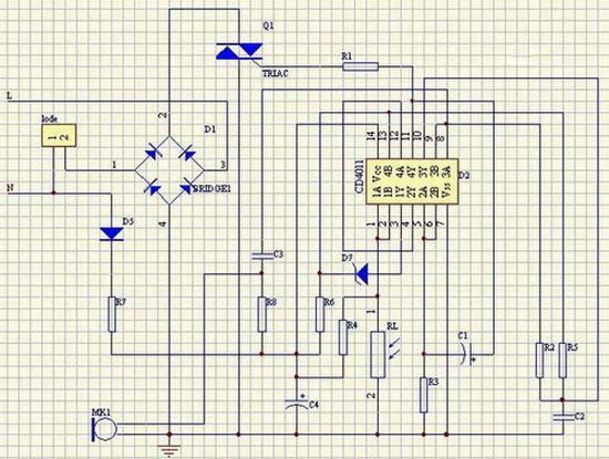 LED球泡灯声光控延时开关制作方法