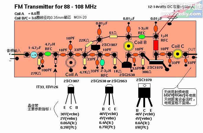 1W功率的FM广播发射机的制作方法