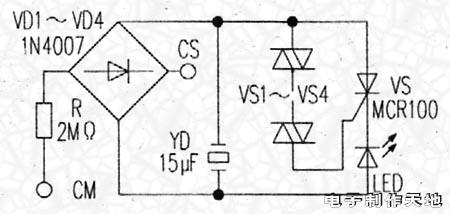 发光二极管试电笔的工作原理