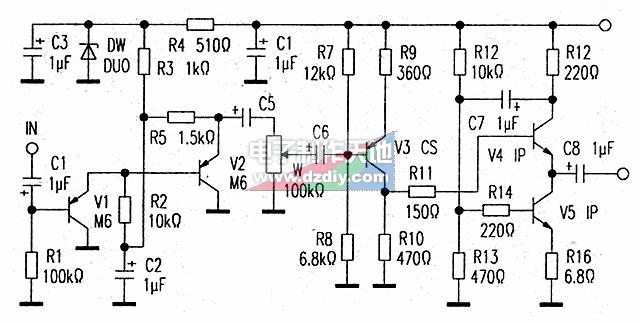 三极管前级放大器的原理及制作