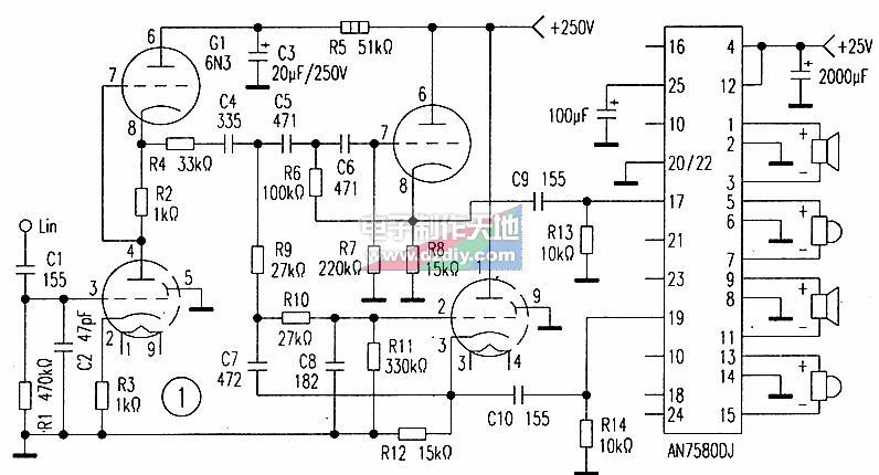 胆石混合分频式功率放大器的工作原理