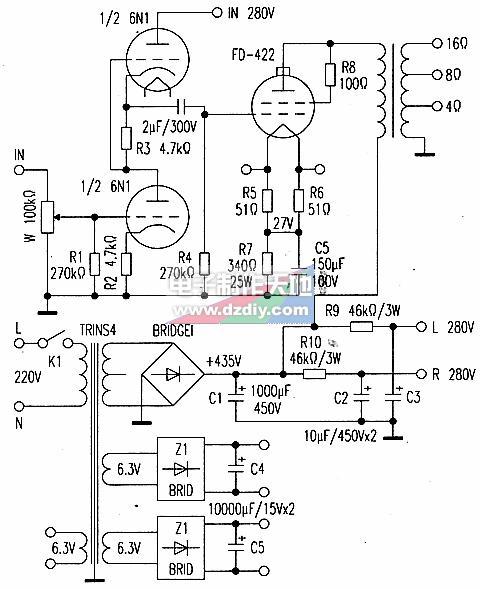 FD422电子管功率放大器的原理及制作