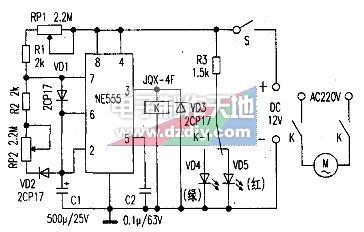 NE555制作的搅拌器间歇运转控制装置的工作原理