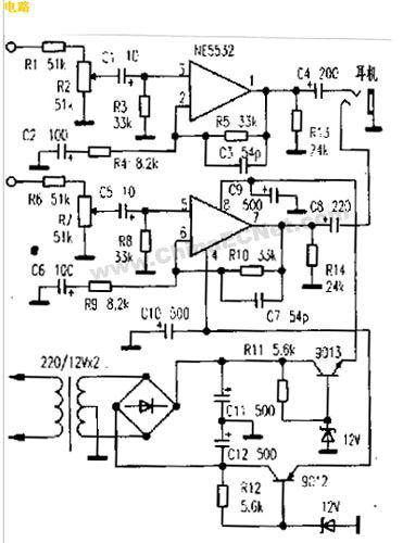 怎样用NE5532制作耳机放大器