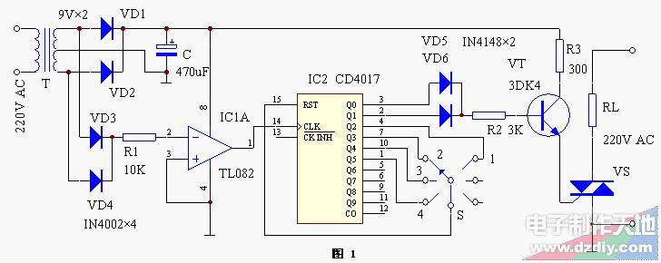 过零调功电路的工作原理