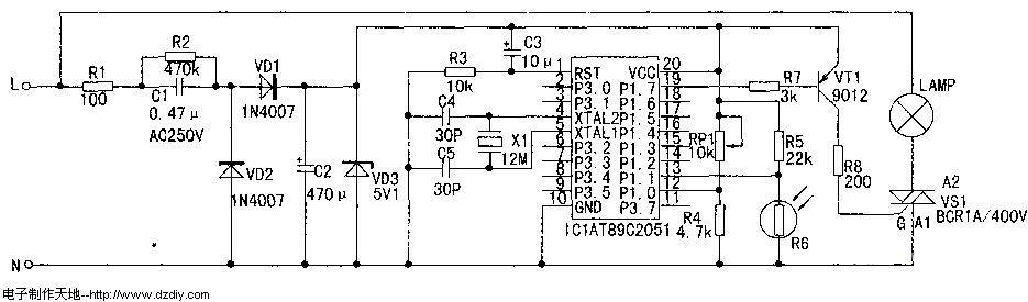 照明灯智能控制器的原理及设计 附程序