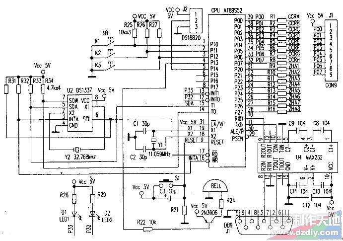 怎么用荧光电子管制作数字钟