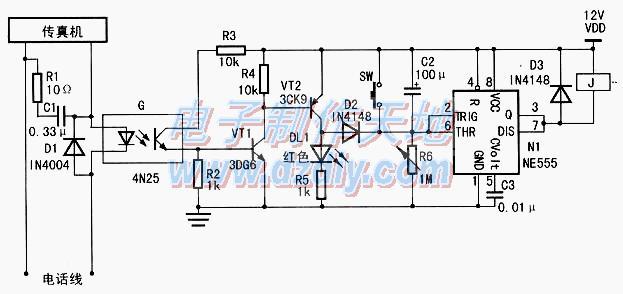 传真机电源控制电路的工作原理及制作
