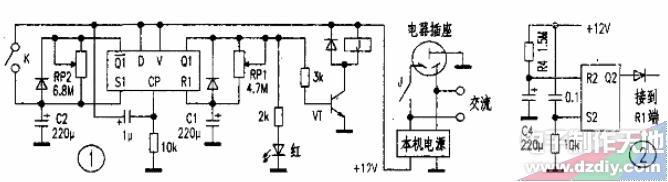 用D触发器制作的电子温度控制器
