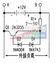 简单的蓄电池充电保护电路,Simple lead-acid battery charging protection circuit