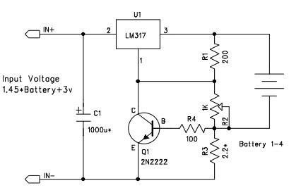 用LM317制作恒压恒流充电器,LM317 Battery charger