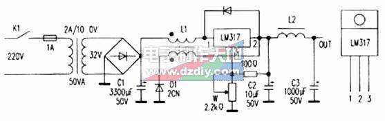 LM317线性稳压集成电路制作开关电源,LM317 switching mode power supply