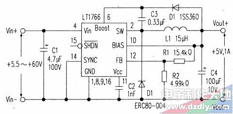 LT1766降压变换器,LT1766 BUCK CONVERTER