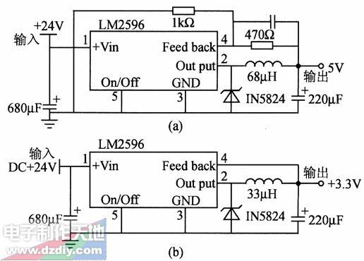 LM2596构成的稳压电源,LM2596 POW...