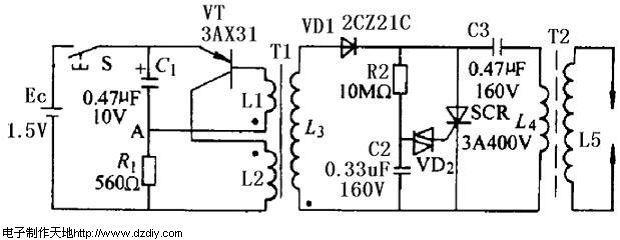 电子点火器电路,High voltage circuit