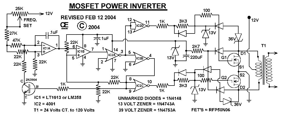 分享1000W逆变器工作原理及电路图