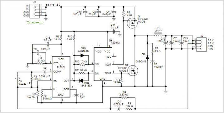 关于TL5001高效率同步降压应用