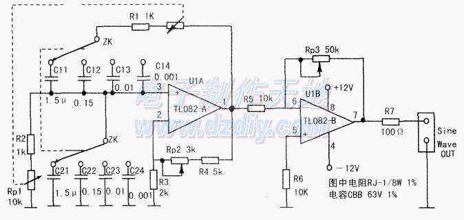 正弦波信號發生器的原理及制作