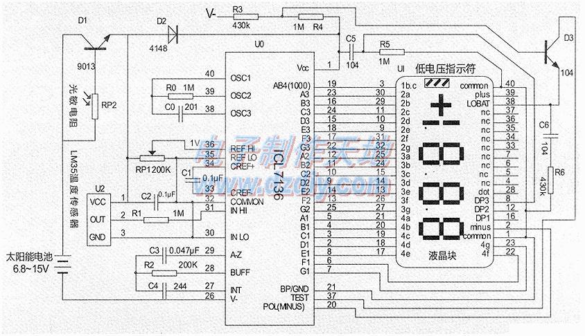 温度显示器的工作原理及制作方法