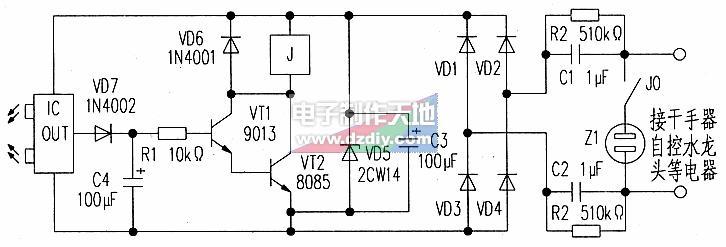 红外线探测开关电路的原理及设计
