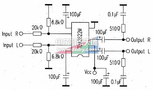 怎样用TDA2822为DM500接收机机增加音量