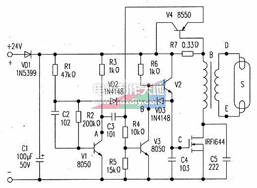 24V节能灯电路的工作原理是什么