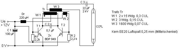 CCFL灯具驱动电路的工作原理