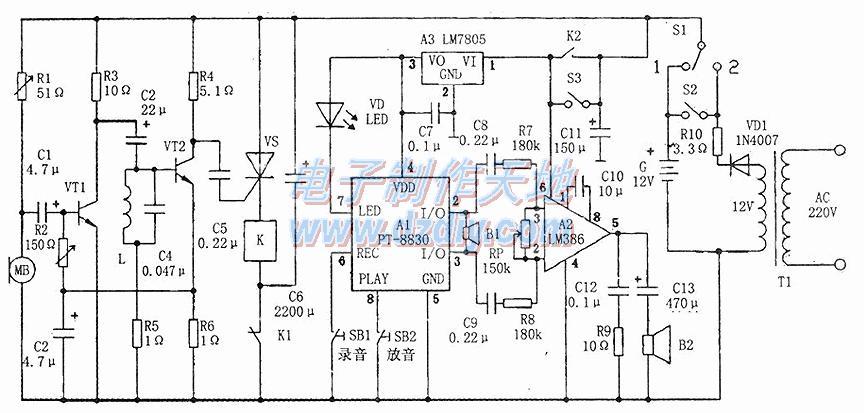 电子驱鸟器的工作原理及制作