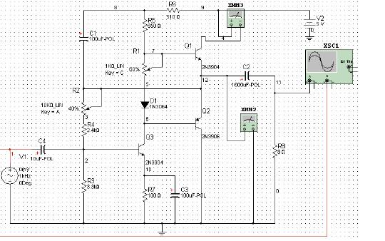 使用Multisim 9对OTL功率放大器仿真的详细资料详解