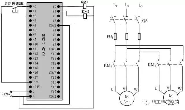 plc的控制线路与梯形图实例