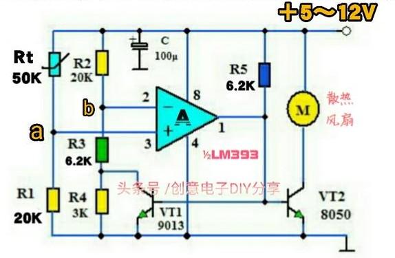 自制5~12V自动温控散热风扇