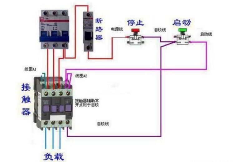 220交流接触器接线图解-电子发烧友网