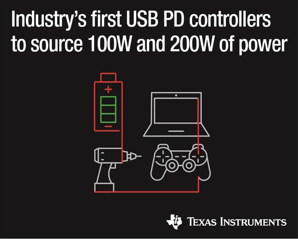 德州仪器推出2款电力输送控制器 具有完全集成电源路径和低成本设计
