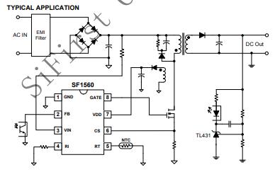 SF1560高性能、高集成度的电流模式PWM控制器资料免费下载