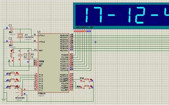 使用51单片机设计的六位数码管电子时钟程序免费下载