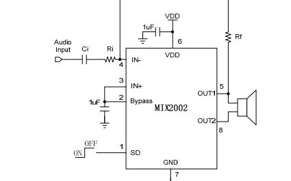 MIX2002单通道AB类音频功率放大器中文数据手册免费下载