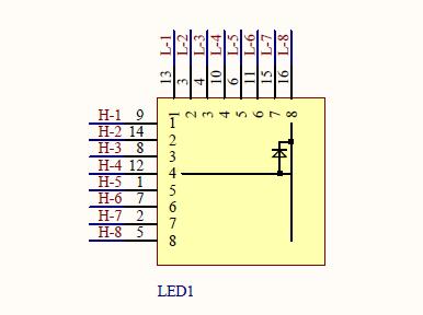 LED点阵原理图详细资料免费下载