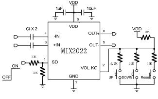MIX2022高效率,无滤波器单声道D类音频放大器中文数据手册免费下载